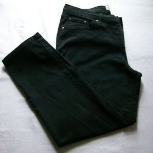 Faded Glory Black Stretch Straight Classic Jeans